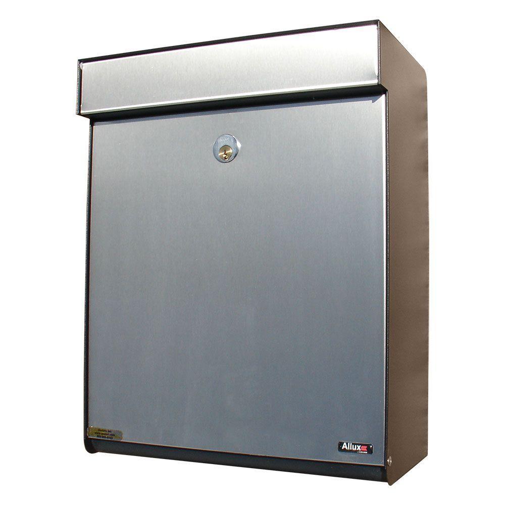 Grandform Black/Stainless Locking Mailbox
