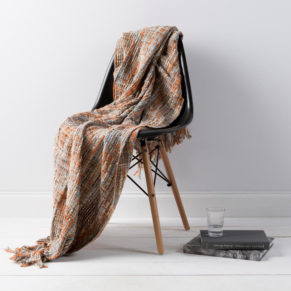 Vernier Brown Acrylic Throw