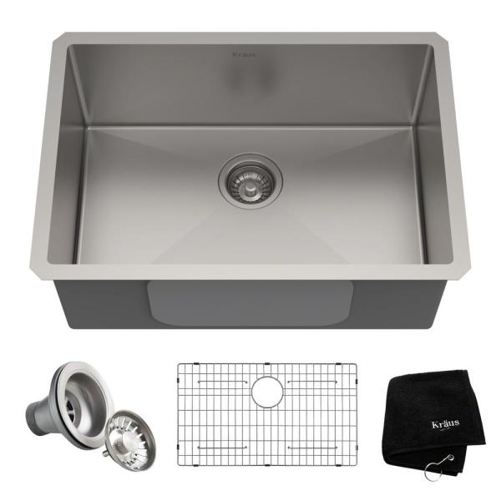 Standart PRO Undermount Stainless Steel 26 in. Single Bowl Kitchen Sink