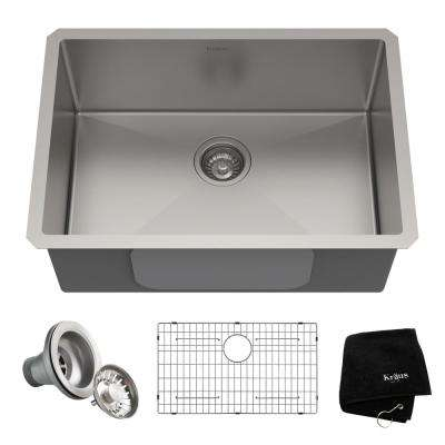 Standart PRO Undermount Stainless Steel 26 in. Single Bowl Kitchen Sink
