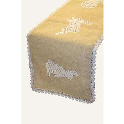 Lace Bunny 100% Polyester Table Runner