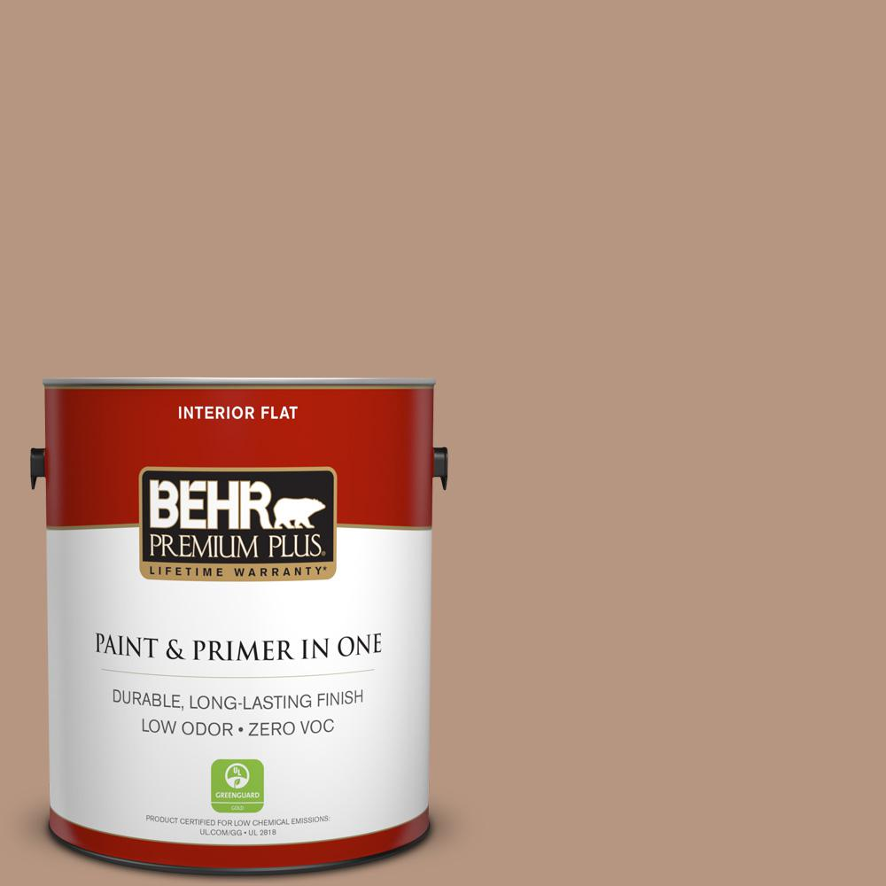 BEHR Premium Plus 1-gal. #S220-4 Potter's Clay Flat Interior Paint