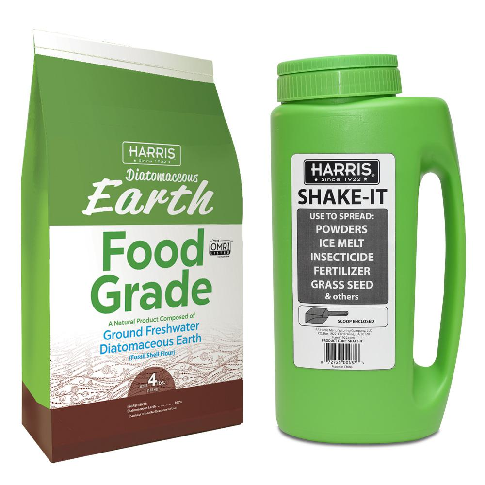 4 lbs. (64 oz.) Diatomaceous Earth Food Grade 100% and Shaker