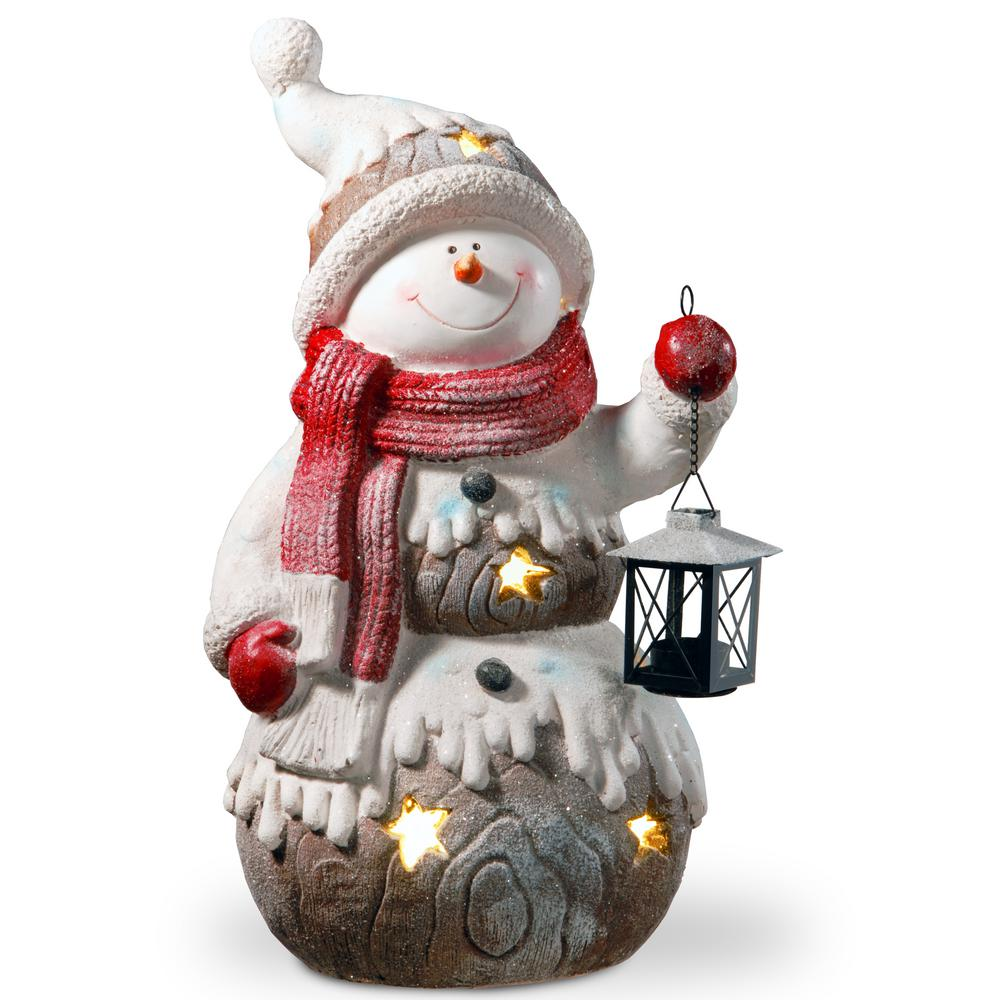 Christmas Snowmen Decorations.National Tree Company 21 In Lighted Snowman Decor Piece