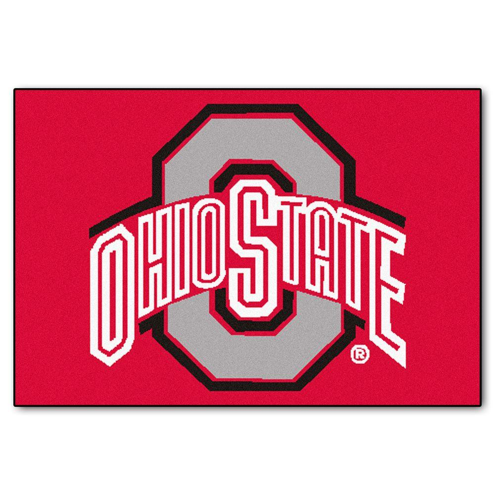 FANMATS NCAA Ohio State University Red 2 ft. x 3 ft. Indoor Area Rug