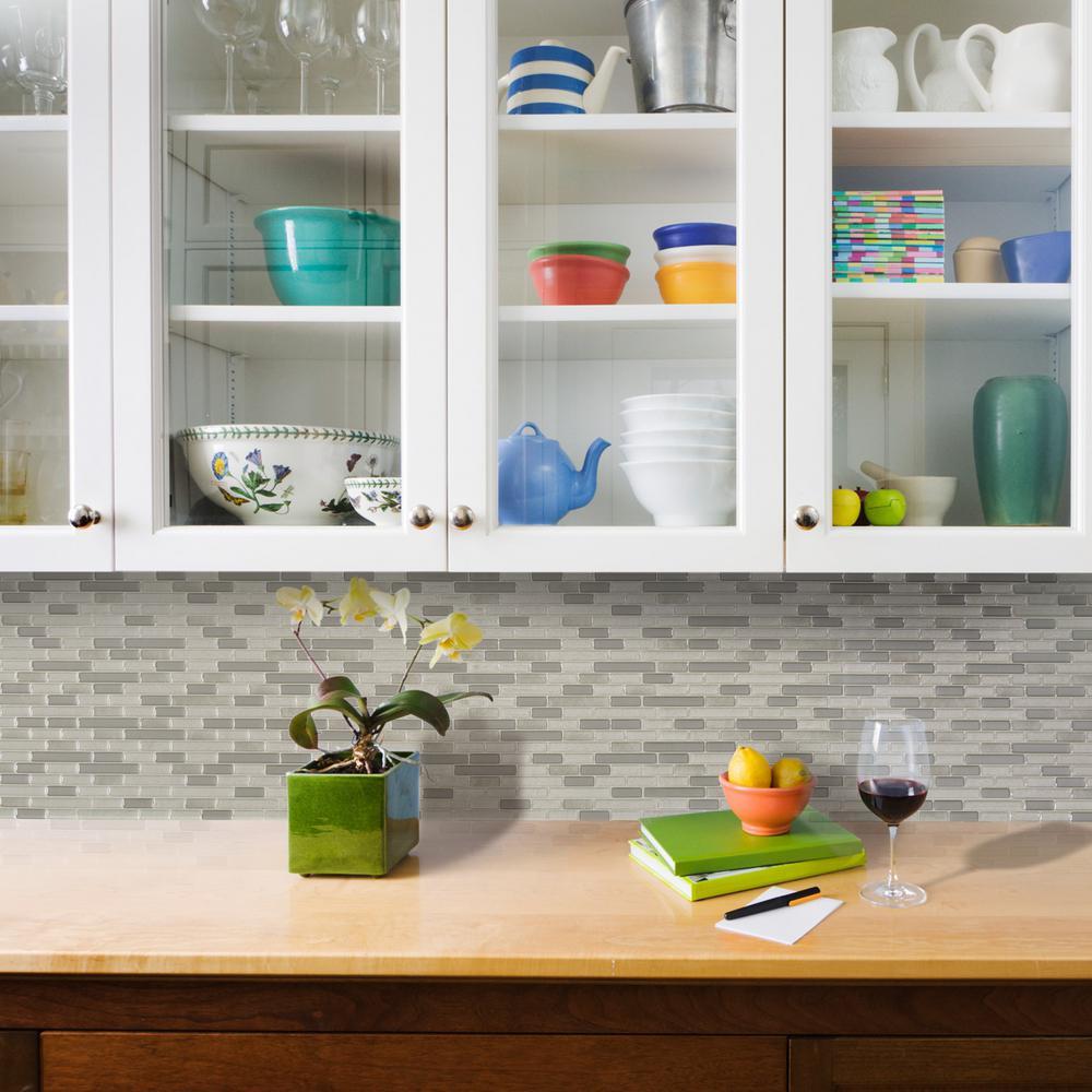 Smart Tiles Muretto 1025 In W X 9125 In H Beige Peel And Stick