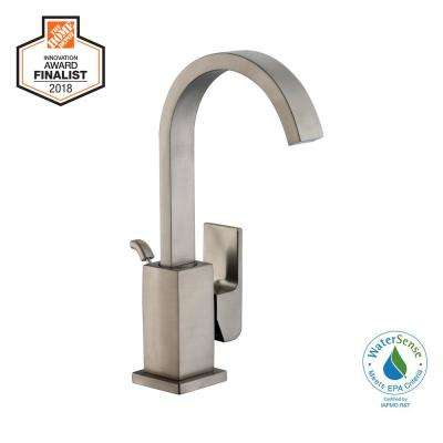 Farrington Single Hole Single-Handle High-Arc Bathroom Faucet in Brushed Nickel