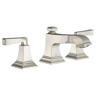 Town Square S 8 in. Widespread 2-Handle Bathroom Faucet with Drain Assembly and WaterSense 1.2 GPM in Polished Nickel