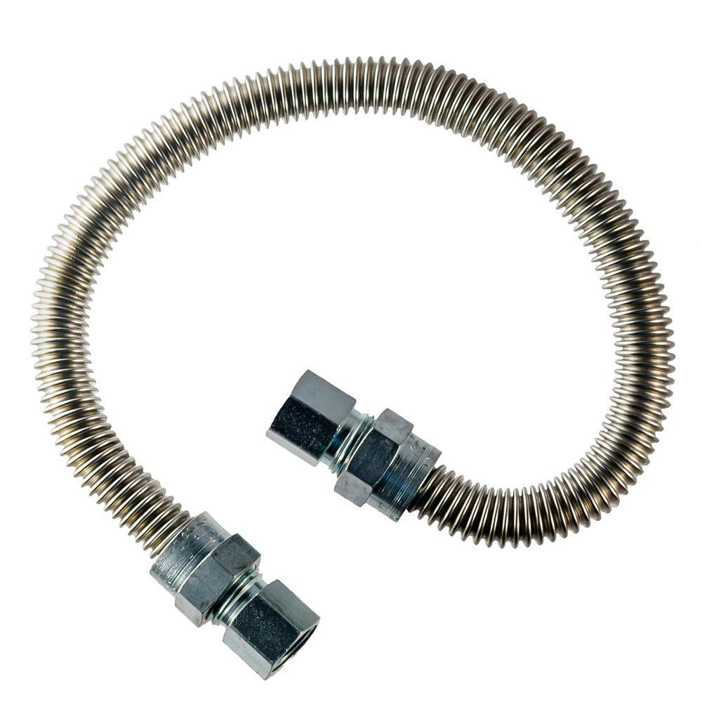 HOME-FLEX 1/2 in.  FIP x 1/2 in.  FIP X 30 in.  Dryer Connector 1/2 in. O.D.