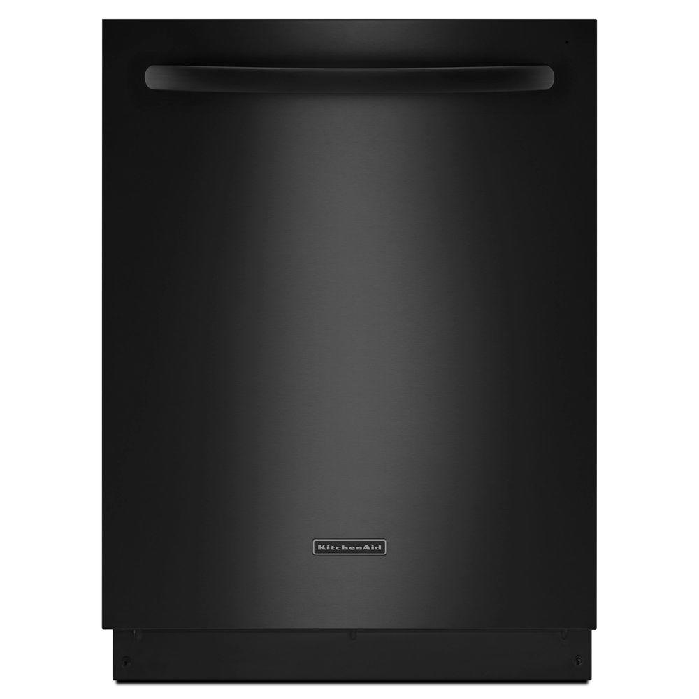 KitchenAid Architect Series II Top Control Dishwasher in Black with Stainless Steel Tub, ProScrub Trio Option, 42 dBA