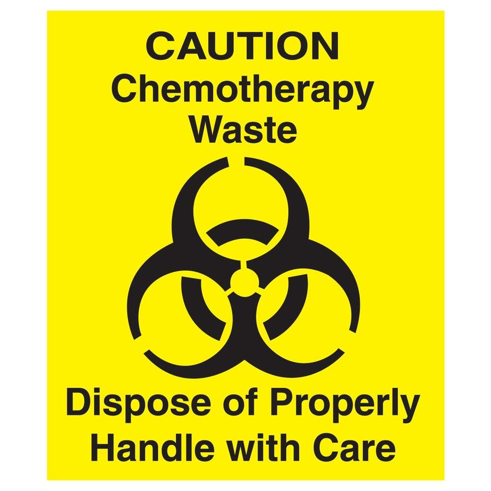 Chemotherapy Waste Decal