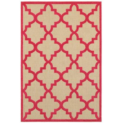 Marina Pink 5 ft. x 8 ft. Outdoor Area Rug