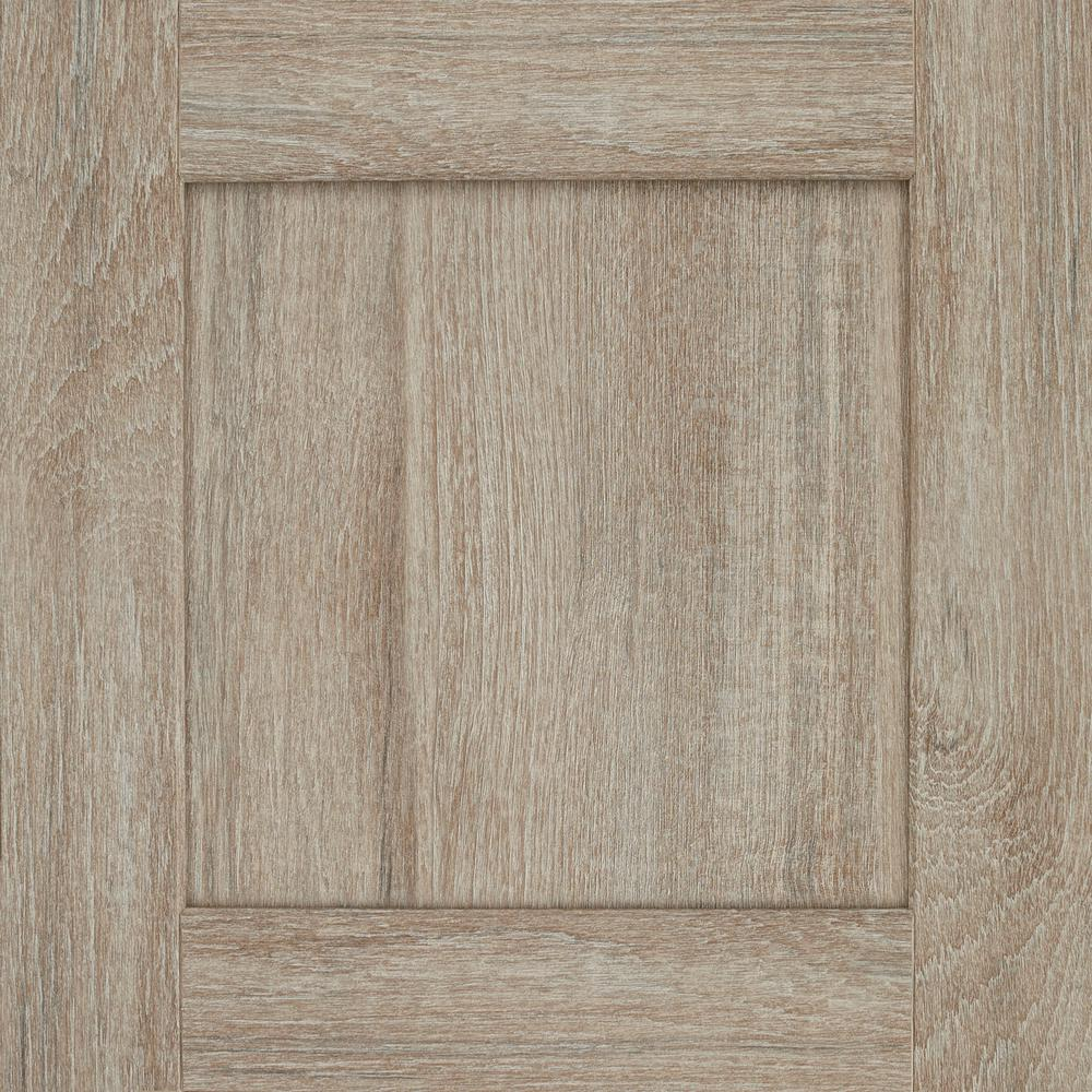 American Woodmark 14-1/2x14-9/16 in. Cabinet Door Sample in Reading DFO  Duraform Drift
