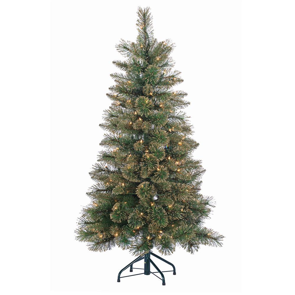 Madison Pine Christmas Tree: STERLING 4.5 Ft. Mixed Hard Needle Cashmere Pine