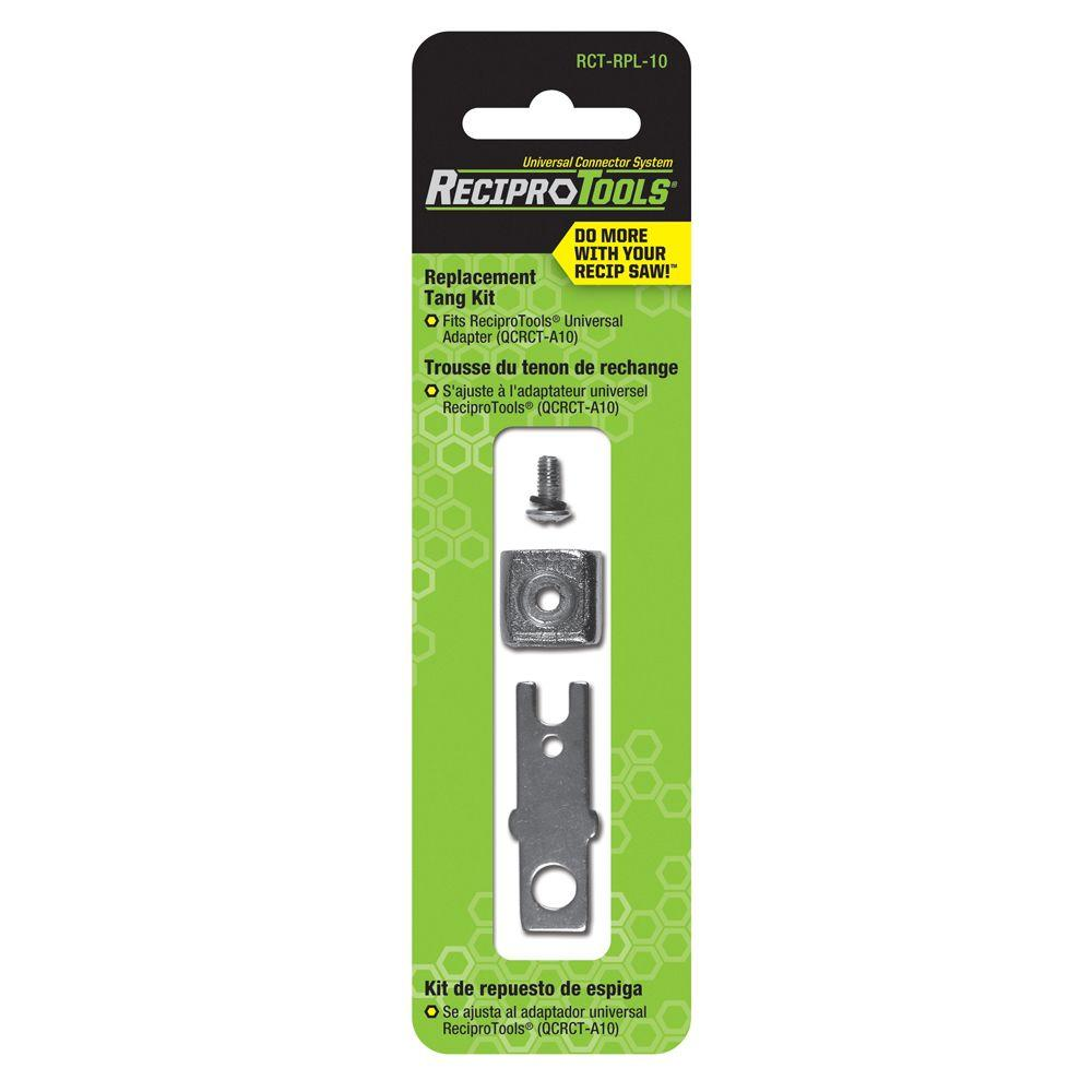 reciprotool replacement tang repair kit for universal adapter for use with reciprocating saws. Black Bedroom Furniture Sets. Home Design Ideas