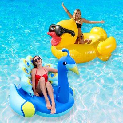 Duck and Peacock Swimming Pool Float Combo Value Pack