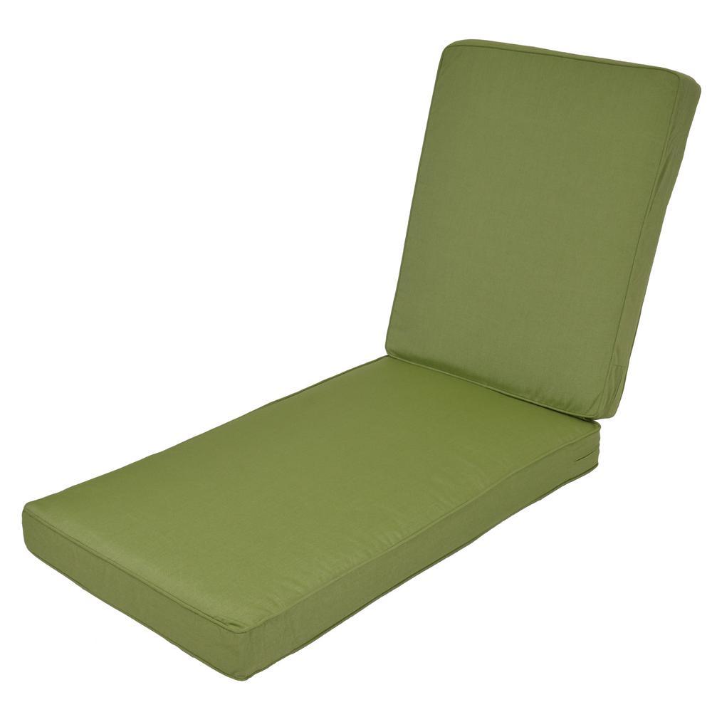 Woodbury Sunbrella Spectrum Cilantro Replacement Outdoor Chaise Lounge Cushion