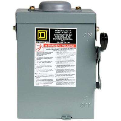 30 Amp 240-Volt 2-Pole 3-Phase Fused Outdoor General Duty Safety Switch