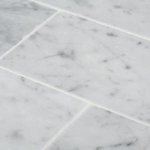 Italian White Carrara 3 in. x 6 in. Honed Marble Wall and Floor Tile (1 sq. ft./Pack)