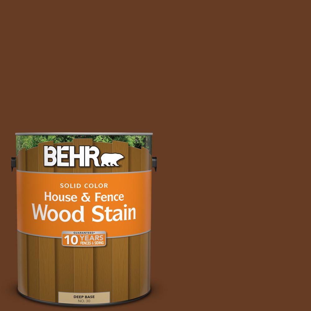 1 gal. #SC-110 Chestnut Solid Color House and Fence Exterior Wood