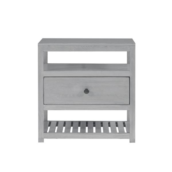 Society 25(H) X 26(W) X15(D) Cloud Gray Nightstand