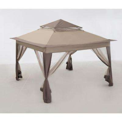 Portia 10 ft. x 10 ft. Beige Steel Pop-Up Gazebo