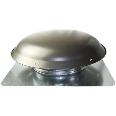 Cool Attic 1080 CFM Weathered Grey Galvanized Steel Power Attic Roof Ventilator