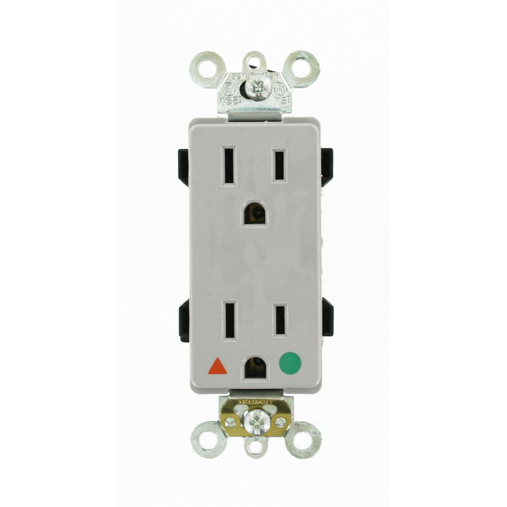 Leviton Decora Plus 15 Amp Hospital Grade Extra Heavy Duty Isolated ...