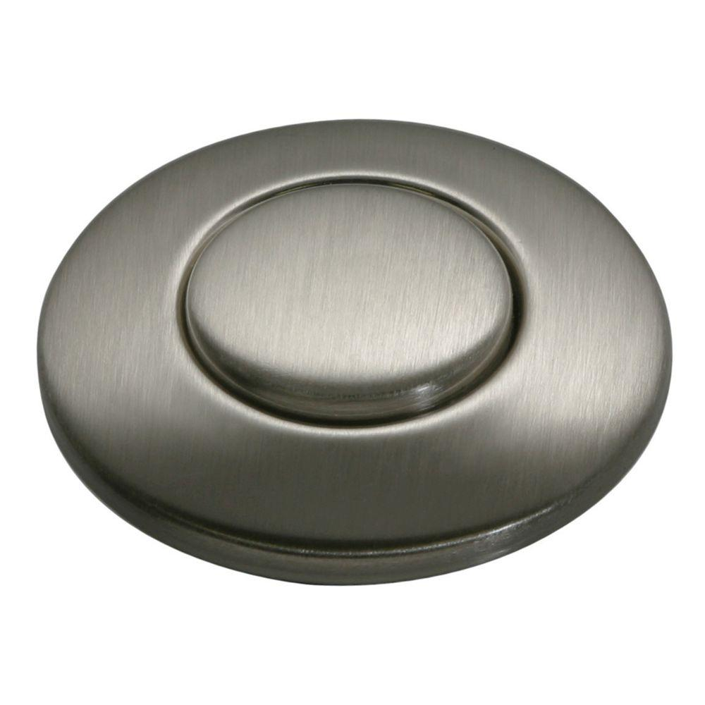 Insinkerator Sinktop Switch Push Button In Satin Nickel For Insinkerator Garbage Disposals Stc
