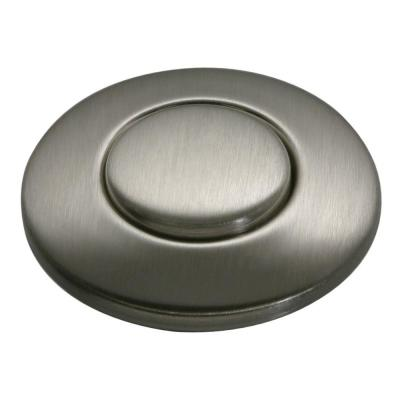 Sink-Top Switch Push Button in Satin Nickel for Garbage Disposals