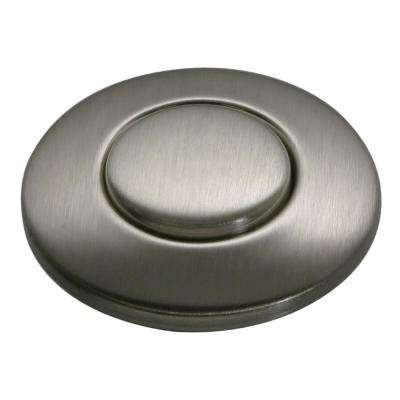 SinkTop Switch Push Button in Satin Nickel for InSinkErator Garbage Disposals