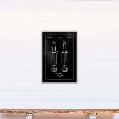 20 in. x 30 in. ''Beer Bottle Patent 1934'' Printed Framed Canvas Wall Art