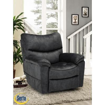 Deerfield Dark Gray Serta Multi Function Lift Chair Recliner, Solid Hardwood Frame and Memory Foam Cushions