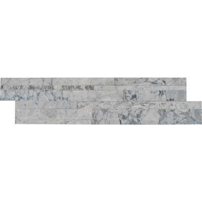 Carrara Luxe 3D Ledger Panel 6 in. x 24 in. Honed Marble Wall Tile (10 cases / 60 sq. ft. / pallet)