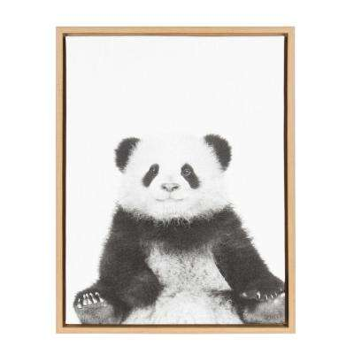 """24 in. x 18 in. """"Panda"""" by Tai Prints Framed Canvas Wall Art"""