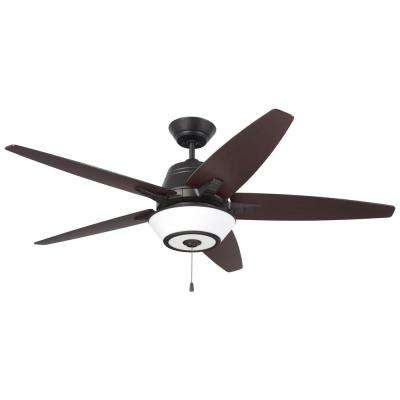 Euclid 56 in. LED Oil Rubbed Bronze Ceiling Fan