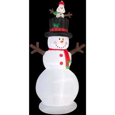5 ft. W x 10 ft. H Snowman with Pop-Up Baby Snowman