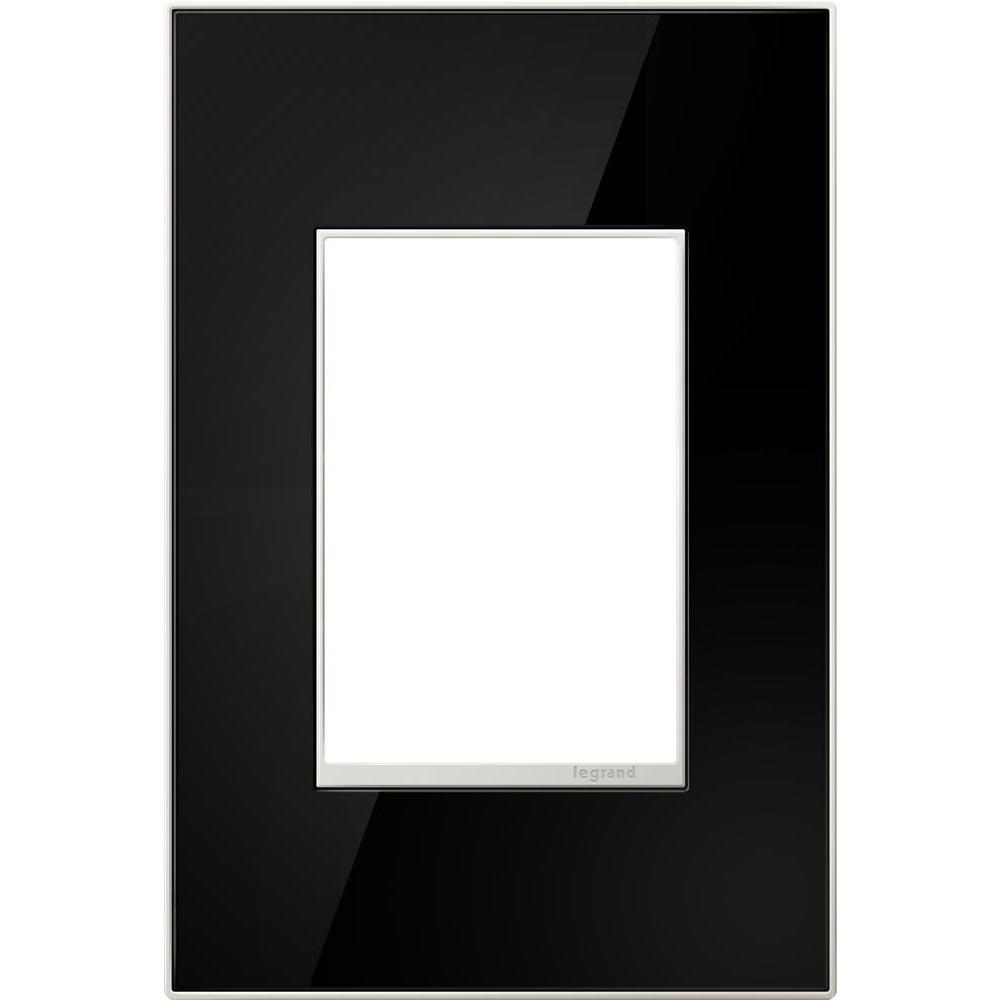 1-Gang 3 Module Wall Plate - Mirror Black