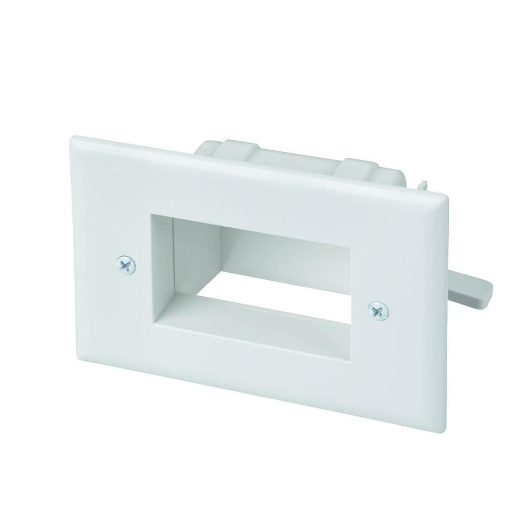 Commercial Electric Low Voltage Recessed Cable Plate - White-5018 ...