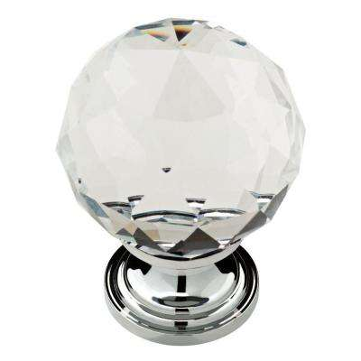 Nora 1-3/16 in. (30mm) Chrome and Clear Crystal Cabinet Knob (4-Pack)