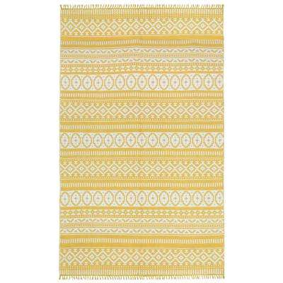Yellow Geo 10 ft. x 14 ft. Area Rug