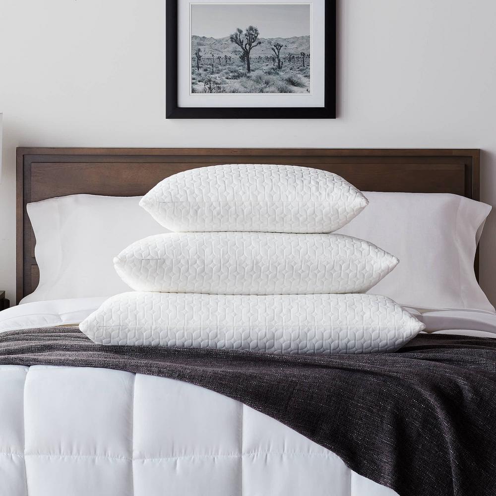 Fiber and Shredded Foam Pillow with Zippered Inner Cover - Standard