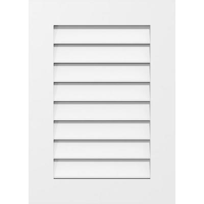 24 in. x 30 in. Vertical Surface Mount PVC Gable Vent: Functional with Standard Frame