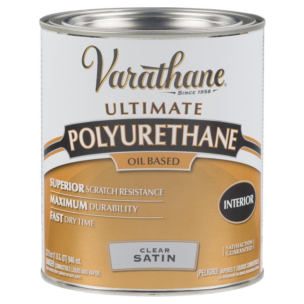Varathane 1 qt. Clear Satin 275 VOC Oil-Based Interior Polyurethane