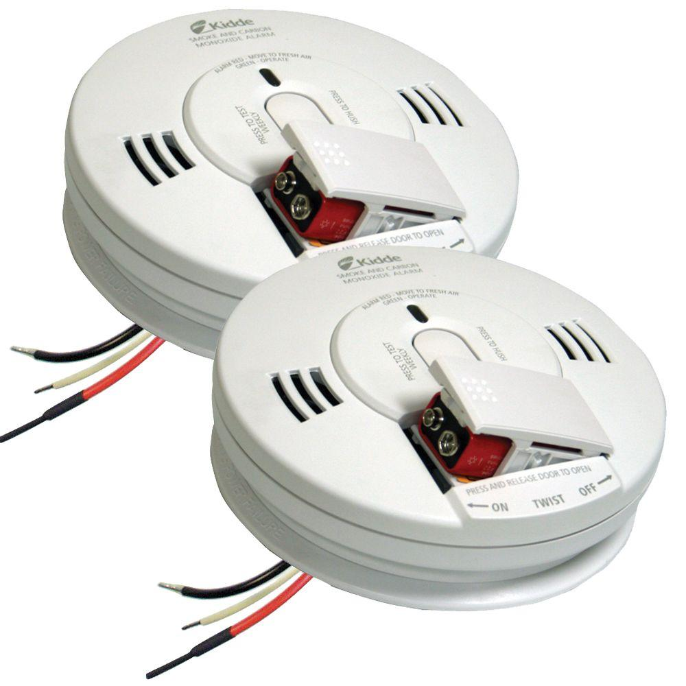 FireX Hardwire Smoke and Carbon Monoxide Combination Detector with 9V Battery