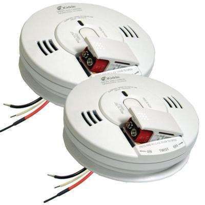 FireX Hardwire Smoke and Carbon Monoxide Combination Detector with 9V Battery Backup and Voice Alarm (2-pack)