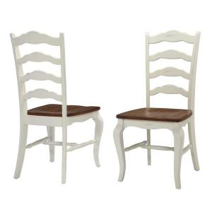 Home Styles French Countryside Rubbed White Oak Dining Chair Set of