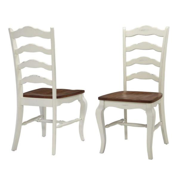 Brilliant French Countryside Rubbed White Oak Dining Chair Set Of 2 Uwap Interior Chair Design Uwaporg