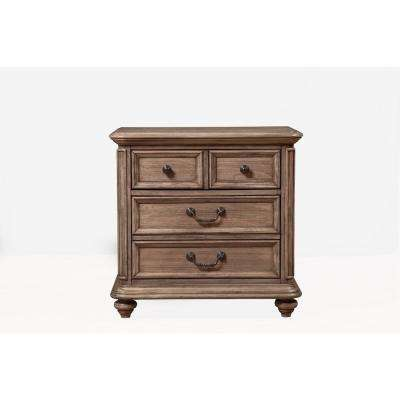 Melbourne 2-Drawer French Truffle Nightstand