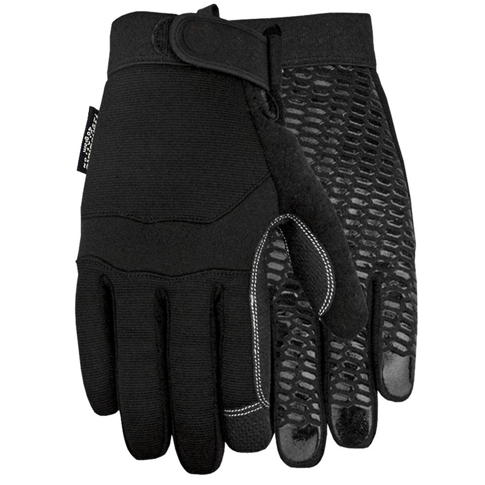 Midwest Gloves & Gear Large Max Silicone Palm Black Lined